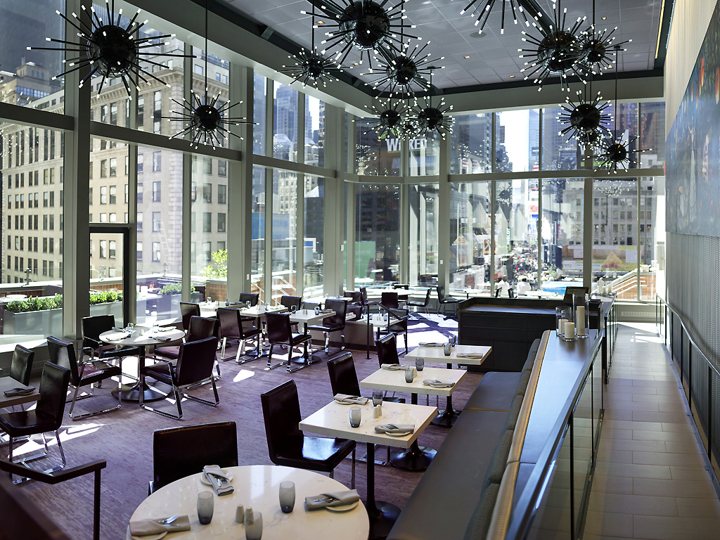 Lounge Area with Views of Times Square
