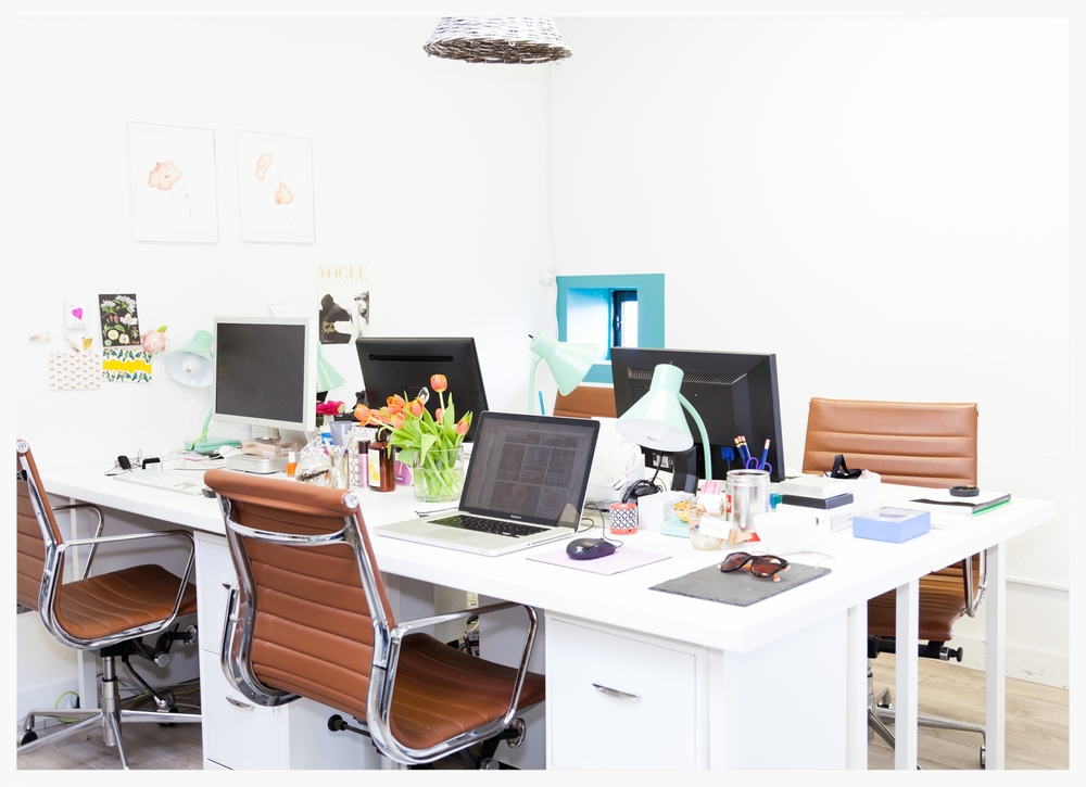 Open area with workdesks