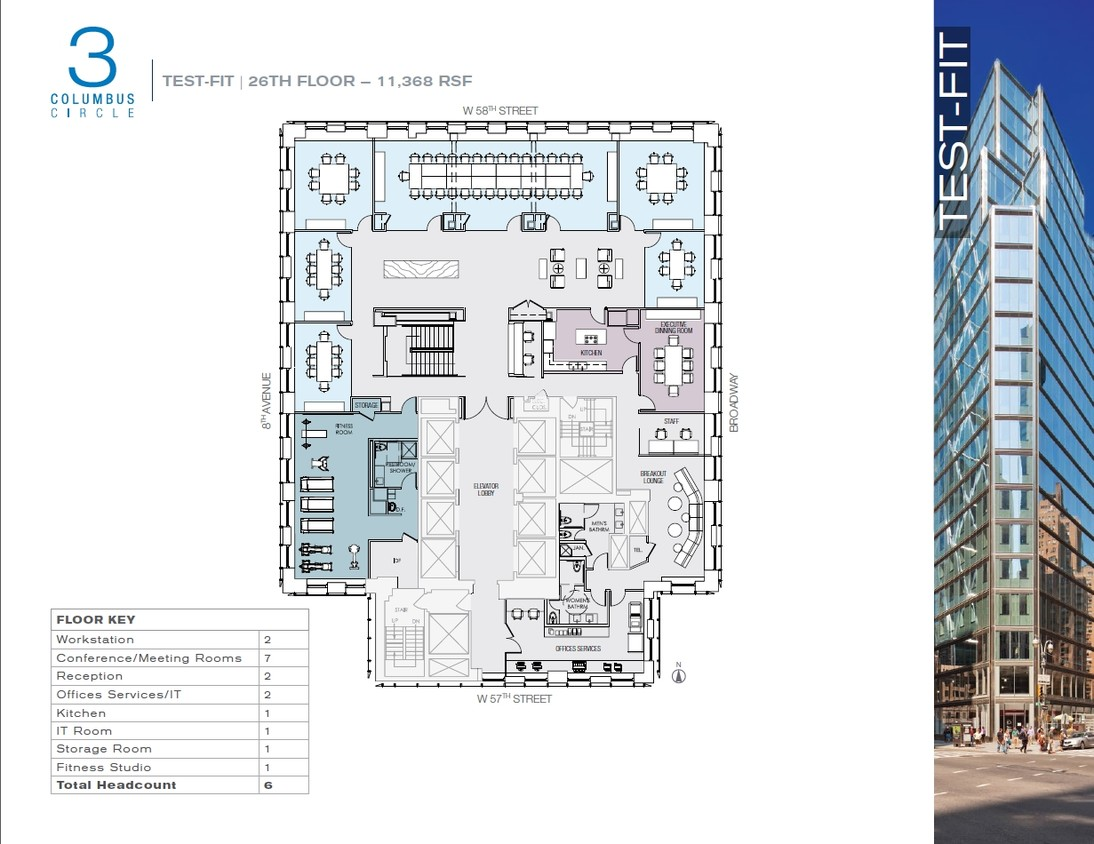 3 Columbus Circle Floor Plan